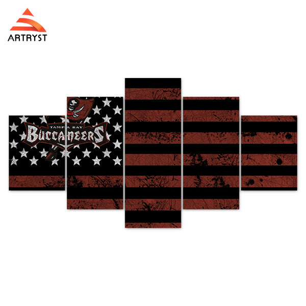 Tampa Bay Buccaneers American Flag Canvas