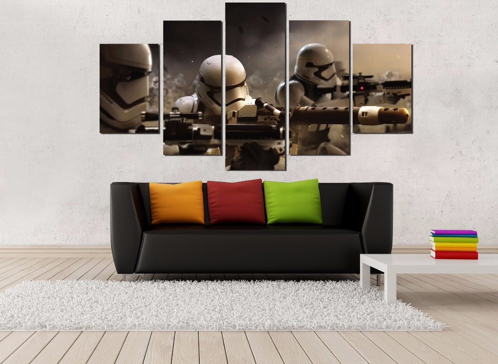 Star Wars Stormtroopers Front Line Battle Canvas - The Force Gallery