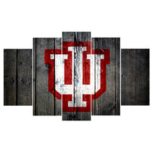 Indiana Hoosiers Barnwood Style Canvas College - The Force Gallery