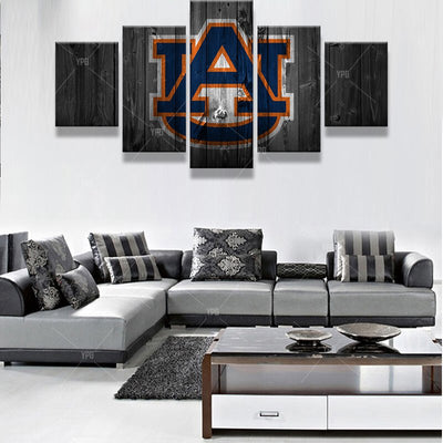 Auburn Tigers Barnwood Style Canvas - The Force Gallery