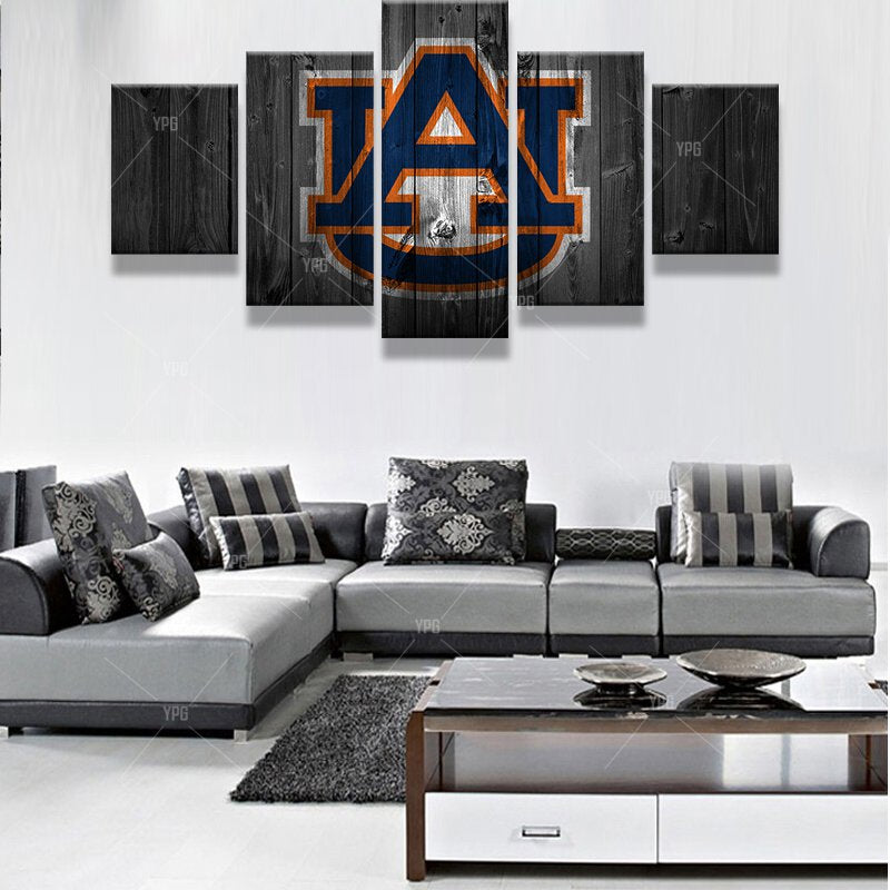Auburn Tigers Barnwood Style Canvas - Show Your Team Pride With A ...
