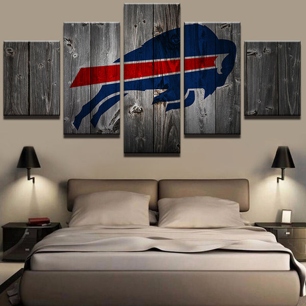 Buffalo Bills Football Barnwood Style Canvas - The Force Gallery