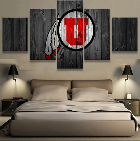 Utah Utes Football College Canvas Barnwood Style - The Force Gallery