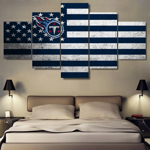 Tennessee Titans Football American Flag