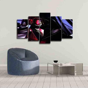 Darth Vader Star Wars Reflection Five Piece Canvas - The Force Gallery
