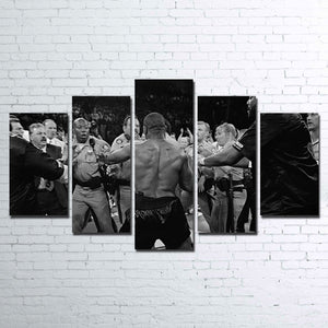 Mike Tyson Boxing Five Piece Canvas Wall Art Home Decor Multi Panel 5 - The Force Gallery