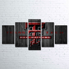 Texas Tech Raiders Five Piece Canvas Wall Art Home Decor Man Cave