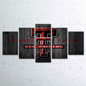 Texas Tech Raiders Five Piece Canvas Wall Art Home Decor Man Cave - The Force Gallery