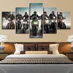 Motorcross Motorcycle Racing Canvas 5 Piece Wall Art Home Decor - The Force Gallery