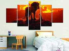 Lion King Sunset Movie Kids Room Five Piece Canvas Wall Art Home Decor Multi Panel 5 - The Force Gallery