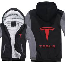 Tesla Electric Hoodie Jacket Coat