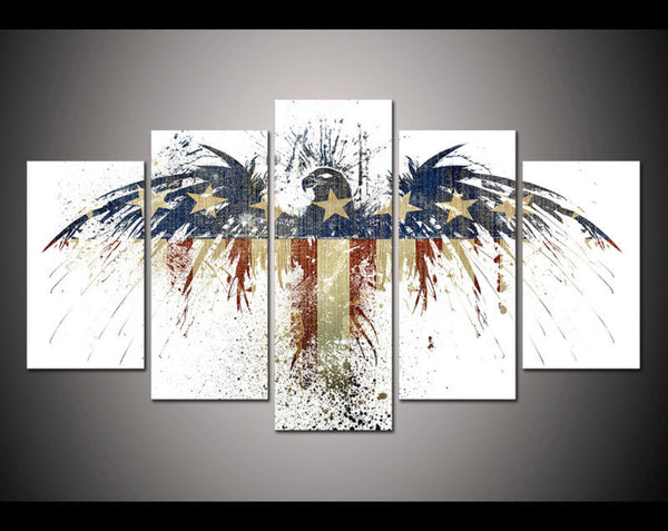 American Flag Eagle Abstract