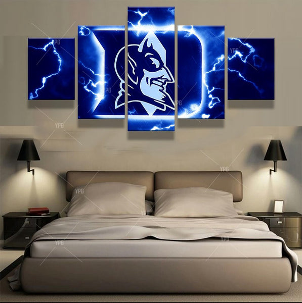 5 Pcs Duke Blue Devils Design Of Basketball Team Canvas Modern Wall Painting Fans Poster Fashion Modern Canvas Printed Painting
