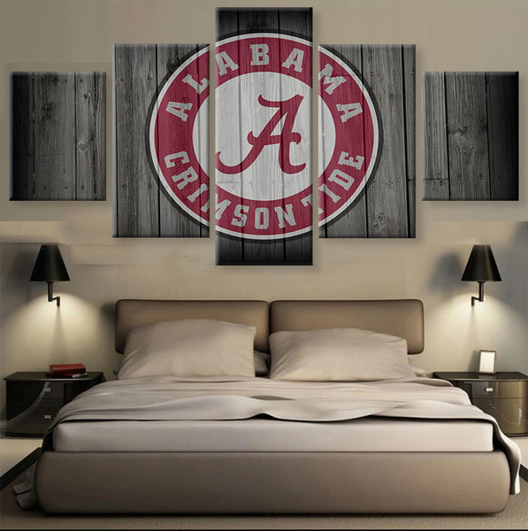 Alabama Crimson Tide College Football Barn Wood Style Print (not actual barnwood) - The Force Gallery