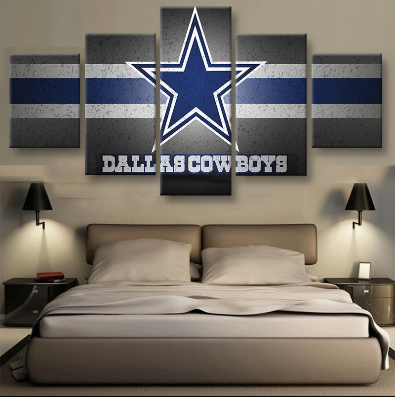 Dallas Cowboys Star Football Canvas - The Force Gallery