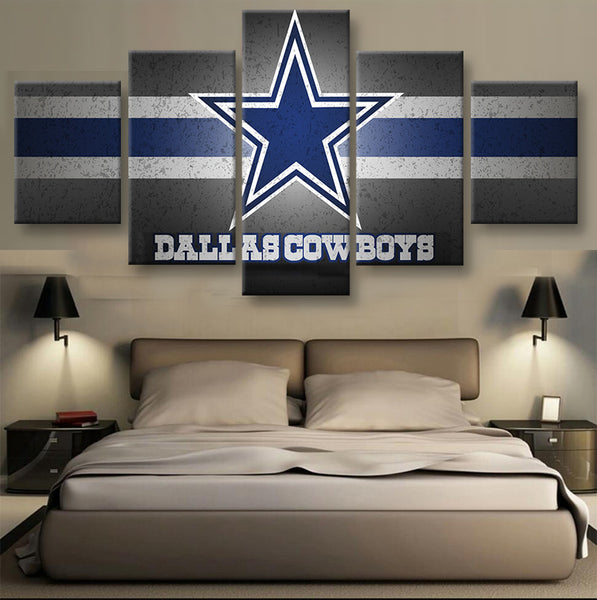 Dallas Cowboys Star Football Canvas