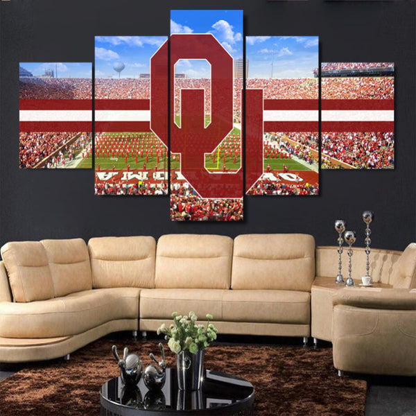 Various College Football Themed Canvases