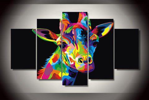 Colorful Giraffe Abstract - The Force Gallery