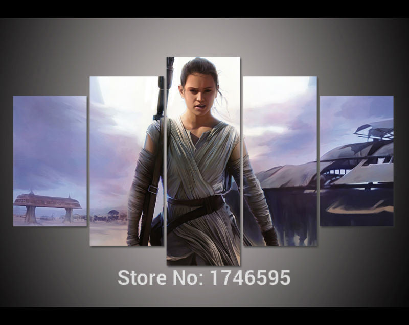 Star Wars Wall Art Picture Rey - The Force Gallery