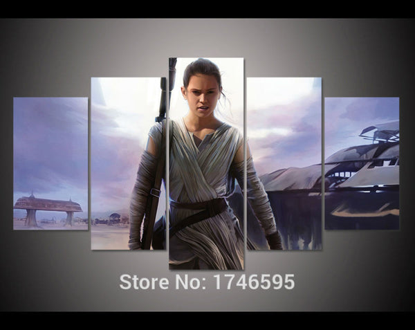 Star Wars Wall Art Picture Rey