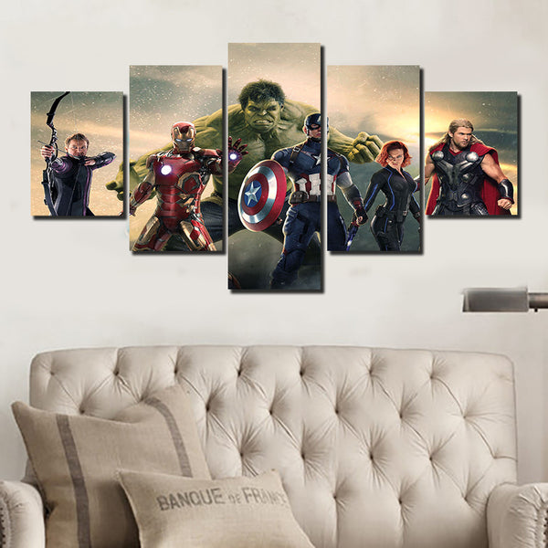 The Avengers Mountain Top Canvas