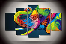 Colorful Elephant Abstract - The Force Gallery