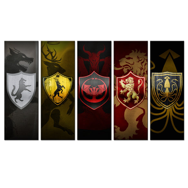Game of Thrones Banners Five piece set!