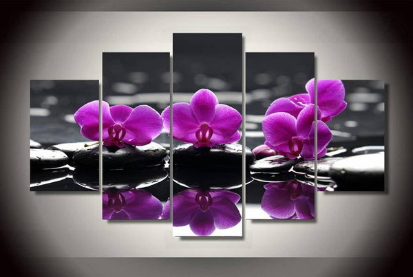 Pink Orchids Canvas Print Wall Art Home Decor