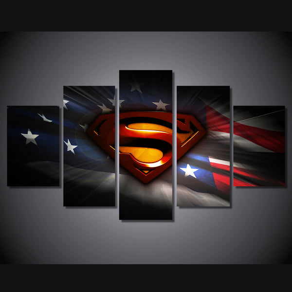 Superman with American Flag