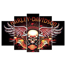 Harley Davidson Motorcycles Skull Canvas Print - The Force Gallery