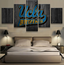 UCLA College Barn Wood Style Canvas - The Force Gallery