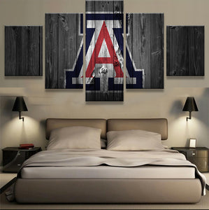 Arizona Wildcats College Barn Wood style Canvas Print (not actual barnwood) - The Force Gallery
