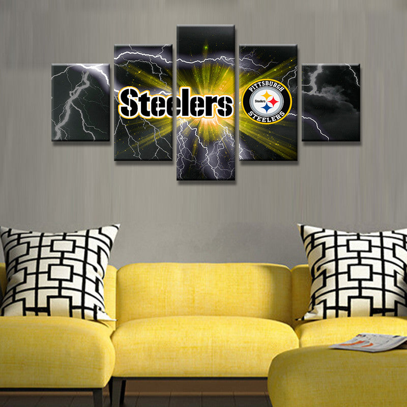 Home Decor Pittsburgh Pa: Pittsburgh Steelers Football Wall Canvas