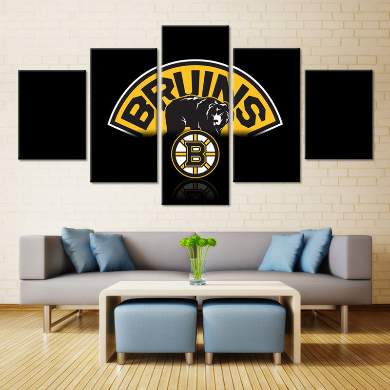 Boston Bruins Hockey Canvas Print - The Force Gallery