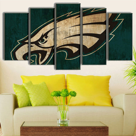 Large Framed Philadelphia Eagles Canvas Print - The Force Gallery