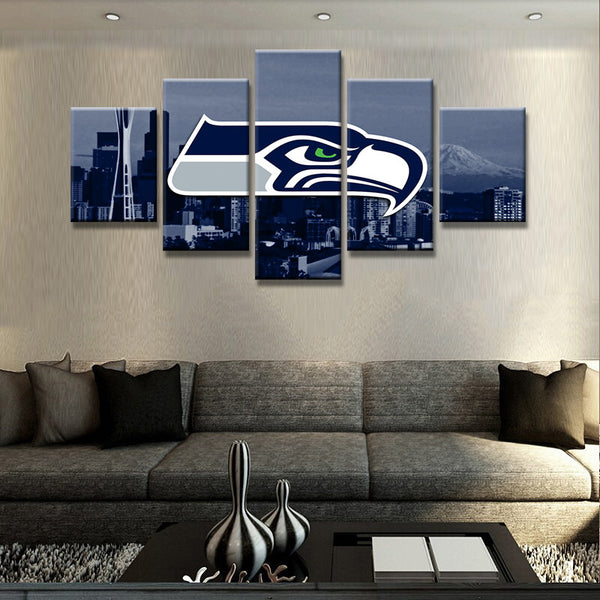 Seattle Seahawks City Canvas Print