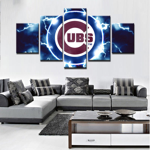 Large Framed Chicago Cubs Canvas Print - The Force Gallery