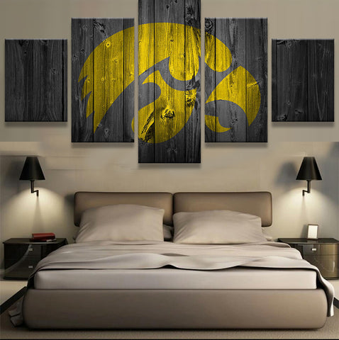 Iowa Hawkeyes College Football Barn Wood style (not actual barnwood) - The Force Gallery