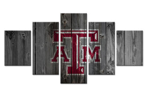 Texas A&M College Football Barn Wood Style Canvas (not actual barnwood) - The Force Gallery