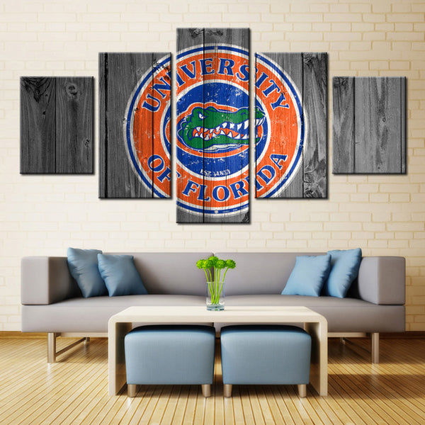 Florida Gators College Football Barn Wood Style (not actual barnwood)