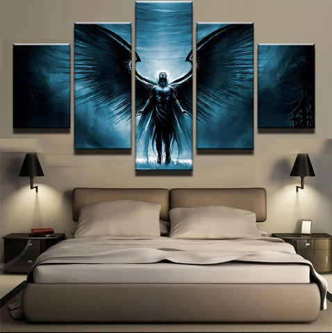 Large Framed Modern Angel Canvas Print - The Force Gallery