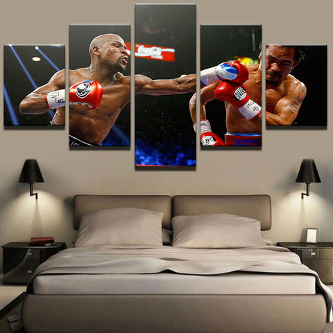 Floyd Mayweather Boxing Manny Canvas