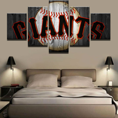 Large Framed San Francisco Giants Canvas - The Force Gallery