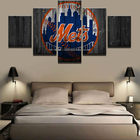 Large Framed New York Mets Canvas - The Force Gallery
