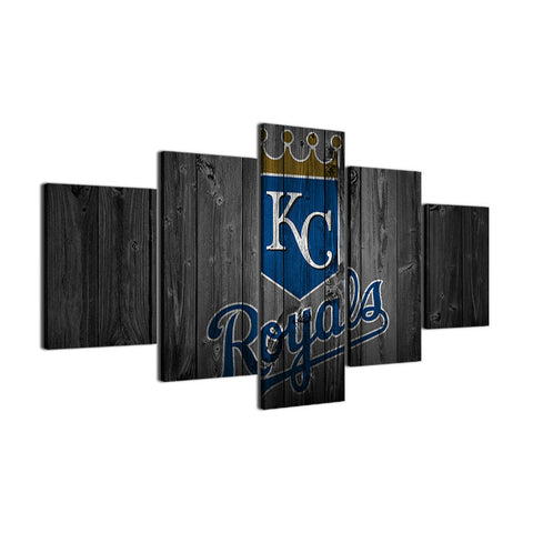 Large Framed Kansas City Royals Canvas - The Force Gallery