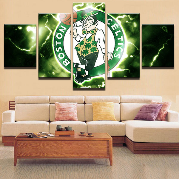 Boston Celtics Basketball Canvas Print - The Force Gallery