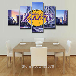 Los Angeles Lakers Basketball Canvas Print - The Force Gallery