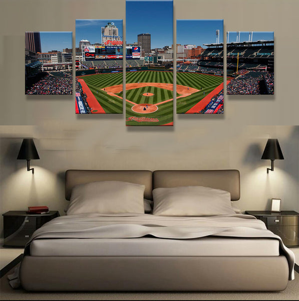 Cleveland Indians Baseball Stadium Canvas Print - The Force Gallery