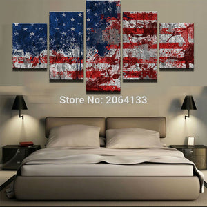 Abstract American Flag Canvas Print - The Force Gallery