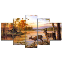 Deer by the River Wildlife Canvas - The Force Gallery